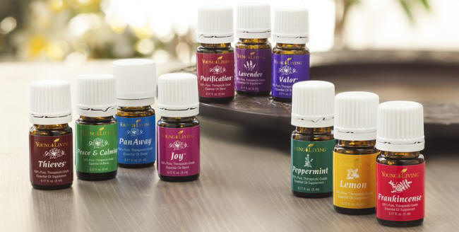 Young Living essential oil collection
